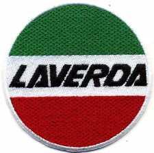 Stupenda toppa ricamata patch termoadesiva logo marchio LAVERDA diametro cm. 8
