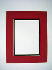 Picture Framing Mat 16x20 for 11x14 photo Red with Black liner