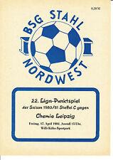 DDR-Liga 80/81 ZEPA acero el noroeste de Leipzig-BSG Chemie Leipzig 17.04.1981