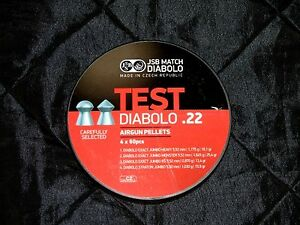 240 COUNT JSB MATCH DIABOLO TEST .22 CALIBER PELLETS in FOUR STYLES DIVIDED CAN