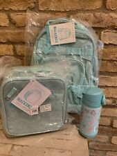 Pottery Barn Kids Small Aqua Glitter Backpack Lunchbox Mermaid Water Bottle