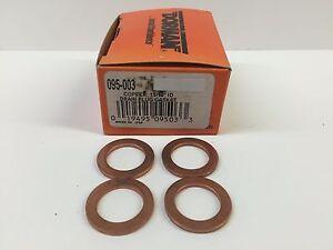 Qty 4 Dorman 11/16'' Copper Drain Plug Gasket 095-003