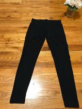 Allen B Women's Leggings with lace design. Size Small