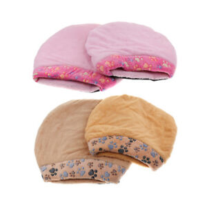 Warm Small Pet Sleeping Bag Soft Cat Cave Pet Bed with Dog Paw Printing