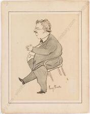 "Ferry Beraton (1860-1900), ""Vinzenz Chiavacci"", Caricature"