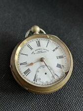 Express Lever Made In Newchatel Open Faced Cased Fusee Watch - Parts Or Repair