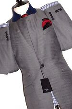BNWT TAILOR-MADE PAUL SMITH THE WESTBOURNE LONDON PINSTRIPE  GREY SUIT 36R W30