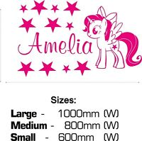 My Little Pony Individual Wall Decals Decorative Stickers 5.5 x 5