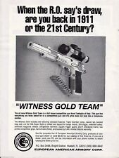 1992 Tanfoglio WITNESS GOLD TEAM PISTOL Competition Gun AD European Armory