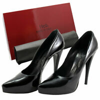 1969 Lackpumps Gr. 42 Leder Plateau High Heels Hand Made in Italy Luxus pur 3399