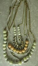Multi Strand Necklace rhinestone bead layer pretty Costume jewelry