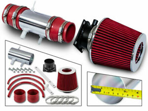 Short Ram Air Intake Kit +RED Filter for 95 Nissan Pickup /91-95 Pathfinder 3.0L