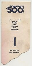 1983 Indianapolis 500 Back Up Card #1 for Pit Badge Credential IndyCar Indy500