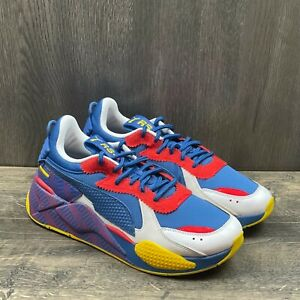 Puma RSX RSX Subvert Sneakers Mens Size 9 Blue Yellow Red White 371860-01