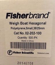 Fisherbrand Hexagonal Polystyrene Weighing Dishes Dish 500/pk Small Top Dia: 1""