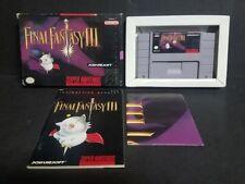 Final Fantasy III (Super Nintendo Entertainment System, 1994) SNES Complete CIB