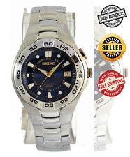 SEIKO Kinetic SKA225 SKA225P1 Blue Dial Stainless-Steel Bracelet Mens Watch