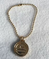 Big Buddha Gold Tone keychain key ring hangtag charm Purse Tag Fob