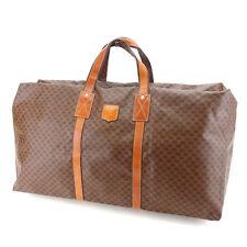 Celine Boston bag Macadam Brown Gold Woman Authentic Used Y4810