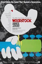 WOODSTOCK - R94 - Original 27x40 rolled MOVIE POSTER - 25th Anniversary- SANTANA