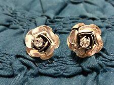 Betsy Johnson Silver Tone Flower Jewel Studs Earrings