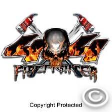 4x4 Firefighter Truck Decal Fire Skull Sticker Set