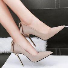 decolte scarpe donna eleganti beige silver tacco 10 stiletto simil pelle CW037