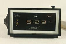 WESTCLOCK, vintage flip (drum) alarm clock, serviced. (ref D 296)