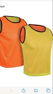 Reversible Pinnies (Pack of 6+Free Carry Bag) Basketball Soccer Training Vest