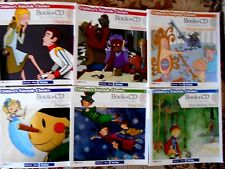 6 x BOOKS & INTERACTIVE CDs: CHILDREN'S FAIRYTALE CLASSICS. PETER PAN etc: VGC
