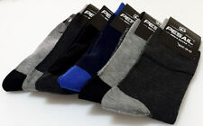 6_ Pairs of Men's Pesail Rich colour Cotton Socks Black Size 6-8 (39-42) UK