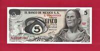 Five Pesos 1971 (10-27-1971) Mexico UNC Note (P-62b.1) Josefa Ortiz de Dominguez