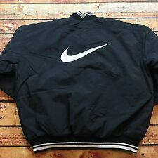 90s VTG NIKE AIR BIG LOGO PUFFER Jacket 1/2 Zip PULLOVER OG SWOOSH L Lab Quilted