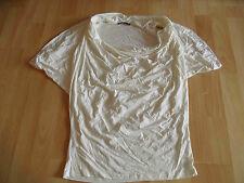 JANE NORMAN tolles Shirt creme m. Strass Gr. 12 TOP ZC1115