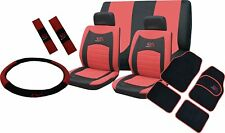 Universal Car Seat Covers Full Set Sporty RS Red Washable Airbag Compatible