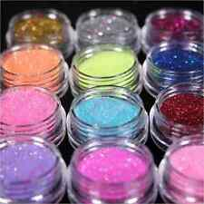 Mix Colors Nail Art Glitter Powder Dust Decoration Kit Acrylic Tips UV Gel CAD E