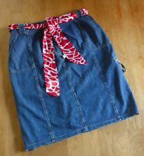 Super Stiefelrock Jeans  Rock 44 46 + Gratis Bindegürtel Bonita TOP