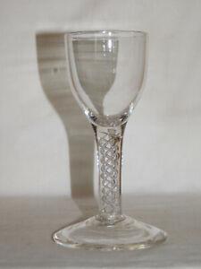 Kelchglas um 1800 Schaft mit Luftspirale hochgezogener Scheibenfuß