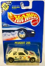 Hot Whees #105 Peugeot 205 Blue Card - RARE