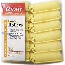"ANNIE CLASSIC FOAM CUSHION ROLLERS #1052, 12 COUNT YELLOW MEDIUM 7/8"""