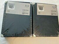 "2-2pk New IKEA Black Storage Boxes  14 1/2 X 11 1/2 X 6 3/4"" Kassett AA-155025-1"