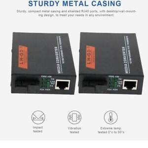 1 Pair Premium 100/1000Mbps   Ethernet to Fiber Optic Media Converter SC