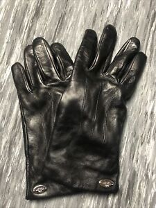 COACH Leather Gloves Merino Wool Lining Size 8