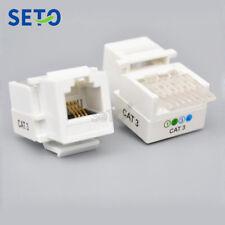 SeTo RJ11 Cat3 Telephone Module RJ11 Cat3 Connector Keystone Wall Plate Socket