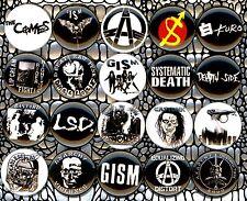 "Japan Punk 20 1"" pin button badge hardcore gism gauze disclose stalin kuro comes"