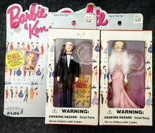 Lot 1997 Barbie and Ken Keychain featuring 1959 Barbie and 1960 Ken Nfrb