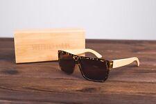 Northern garms Tortuga Justin Estilo Bambú Sunglasses UV 400 £ 7 Ray..
