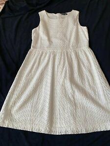 More & More Kleid Sommerkleid mit Spitze, ärmellos, Fb. weiß, Gr. 42