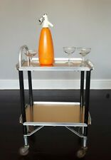 Antique 30s Quickfor Ltd Foltroy Hostess Drinks Trolley Gold Industrial Glamour