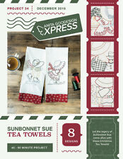 Anita Goodesign Express Sunbonnet Sue Tea Towels Embroidery Machine CD (CD ONLY)